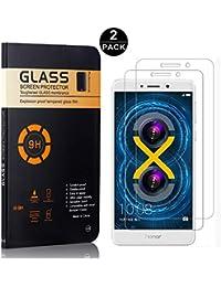 Bear Village® Protector de Pantalla Huawei Honor 6X, Cristal Templado, Anti-Golpe, Alta Definicion 9H Dureza Protector de Pantalla para Huawei Honor 6X, 2 Piezas