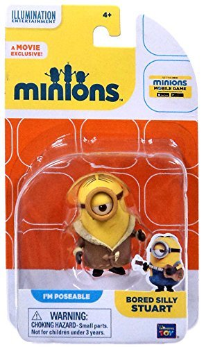 Minions Figur Stuart mit Mantel - PM Poseable - Aus dem Minions Film