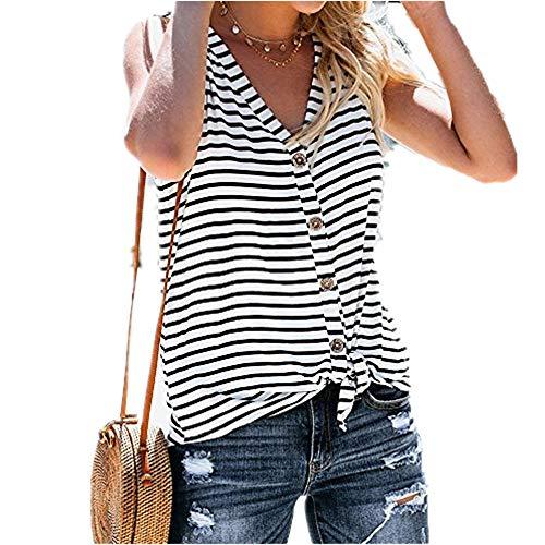 En Solide Femmes lin Sexy Casual Blouse Shirt Mode Hors Épaule D'été Day Col Sans Débardeur Tops Dentelle Rayures Couleur Manches Bouton À V T v6yYf7bg