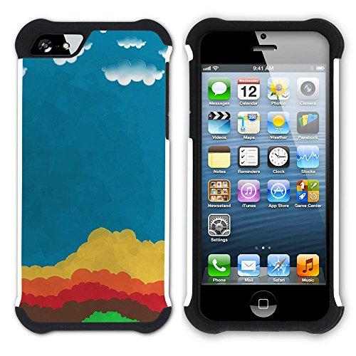 Graphic4You Farbpalette Gemälde Malerei Kunst Farben Hart + Weiche Kratzfeste Hülle Case Schale Tasche Schutzhülle für Apple iPhone SE / 5 / 5S Design #10