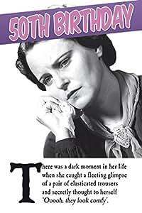 Emotional Rescue age 50th Female Birthday Card