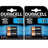 4 x CR123 3V Duracell Ultra Litio Batteria Fotografica - DL123 - EL123A - CR123A - CR17345