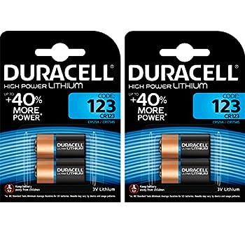 4 X Cr123 3v Duracell Ultra Lithium Photo Battery Dl123 El123a