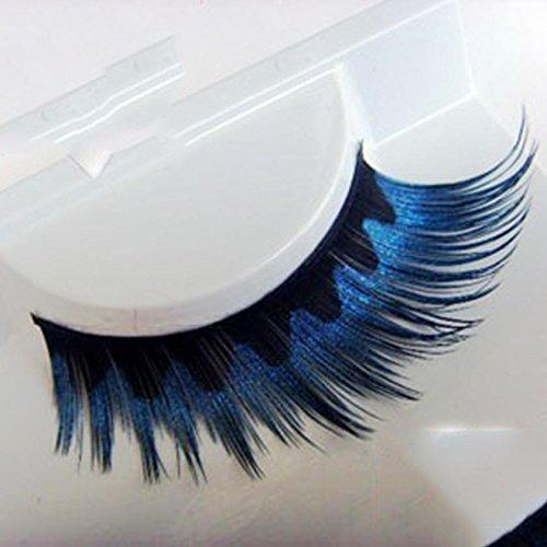 DZW Auge falsche Wimpern - Farbe übertriebene blaue Höhle - Bühnenkunst