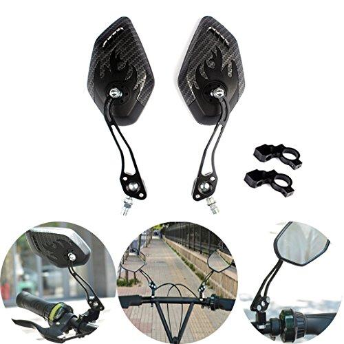 Fansport Fahrrad Rückspiegel, 1 Paar Fahrrad Spiegel Fahrradlenker Rückspiegel Mountainbike Teil