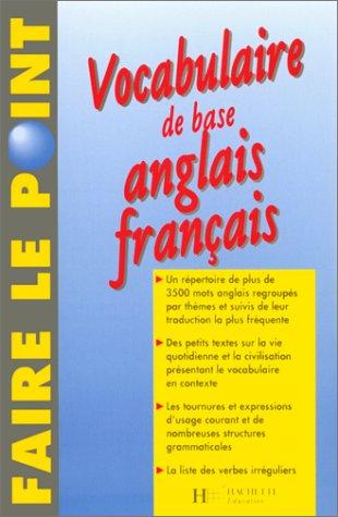 Vocabulaire de base anglais-français