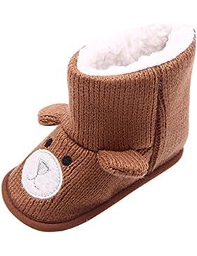 LvRao Säugling Warme Lauflernschuhe Neugeborene Stiefel Winter Baby Gestrickte Schuhe Krabbelschuhe