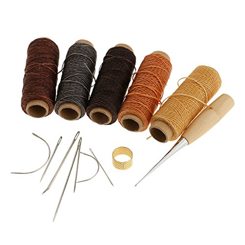 Baoblaze Leder gewachst Wachs Thread Cord Handwerk für DIY Leder Hand Stitching Stitching