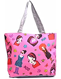 Re-usable Eco Friendly Canvas Material Beach Shopping & Tote Bag Large Capacity. - B0765VJKT5