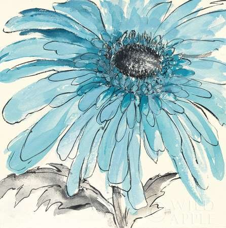 Gerbera bleu III par Paschke, CHRIS – Fine Art Print Disponible sur