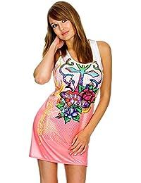 ED HARDY Damen Designer Kleid Monica Tank Dress True Love