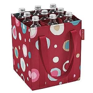 reisenthel zj3048 bottelbag funky dots 2 sac porte bouteilles 9 bouteilles. Black Bedroom Furniture Sets. Home Design Ideas