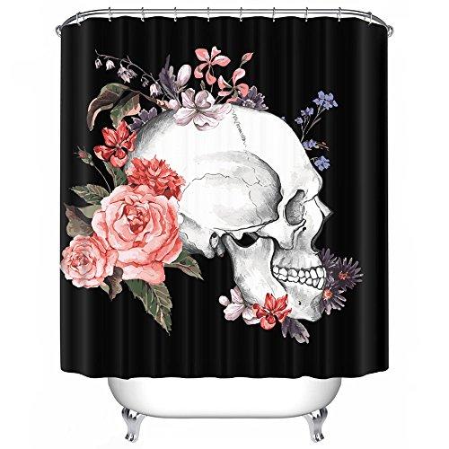 CAIYI Shower Duschvorhang, Halloween - Thema duschvorhang, Familie, vorhänge, individualität und duschvorhang, WC duschvorhang, die Perforation Frei IST, die Tür (10, 200cm×180cm)