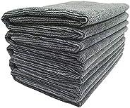 SOFTSPUN Microfiber Cleaning Cloths, 5pcs 40x60cms 340GSM Grey! Highly Absorbent, Lint and Streak Free, Large