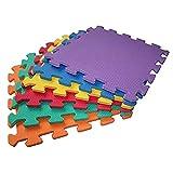 ARSUK Lot de 2 tapis de jeu en mousse souple pour enfants Puzzle lettres/chiffres (Jugar Mats)