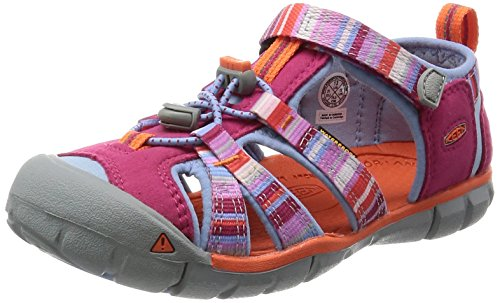 Keen Kids' Seacamp II CNX-C Sandal, Bright Rose Raya, 3 M US Little Kid -