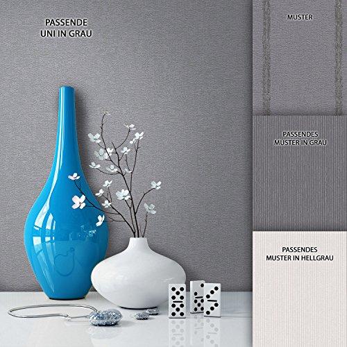 NEWROOM Landhaus Tapete Grau Vliestapete Landhaus, Modern, Struktur, Unis Unifarbe schöne moderne und edle Design Optik , inklusive Tapezier Ratgeber