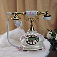 CUIAIDING statue The new European antique phone stereo flower garden telephone decoration Dial number Decoration home Rotate tones