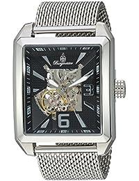 Burgmeister Reloj automático para hombres con negro Esfera Analógica y plata pulsera de acero inoxidable BM325 – 121