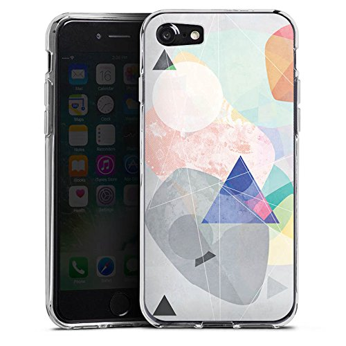 Apple iPhone X Silikon Hülle Case Schutzhülle Muster Design Dreieck Silikon Case transparent