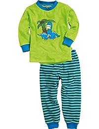 Playshoes Jungen Zweiteiliger Schlafanzug Schlafanzug Frottee Dino