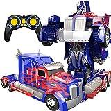 PETRLOY Telecomando Senza Fili RC Optimus Prime Deformation Toy Car Sorpresa per Bambini Pt 389 OP Commander Auto Man Modello 1/12 Transformers Stunt Car Holiday Regali di Compleanno Mini RC Car