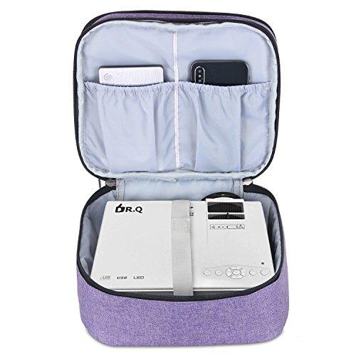 Luxja Beamertasche für QKK Mini Beamer, Tragbar Projektor Tasche für DR.Q Projektor - 3