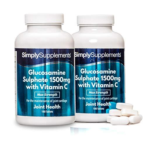 Glucosamina 1500 mg con Vitamina C - 360 compresse - 1 anno di trattamento - SimplySupplements
