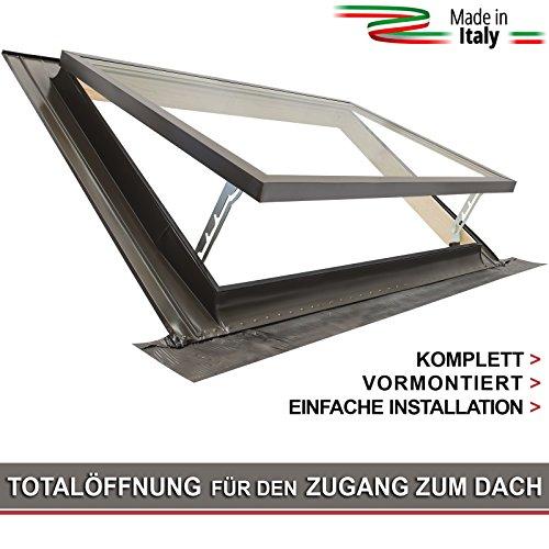 Ausstiegsfenster - modell CLASSIC VASISTAS / Dachfenster + Eindeckrahmen / Oberlicht / Öffnung Art Velux / Doppelglas (55x45 Breite x Höhe)