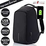 #9: AllExtreme Anti Theft Backpack Waterproof Business Laptop Bag with USB Charging Port for 14 inch Laptop, Notebook, Camera and Mobile (Black)