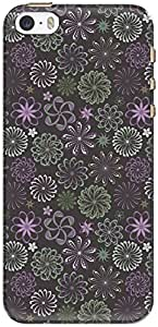 The Racoon Lean printed designer hard back mobile phone case cover for Apple Iphone 5/5s. (Purple Flo)