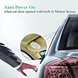 Andven Handsfree Bluetooth Car Kit  AUTO POWER ON Visor with Motion Sensor, Wirefree 4.1 Hands free In Car Speakerphone Kits for Smartphone Devices - Black