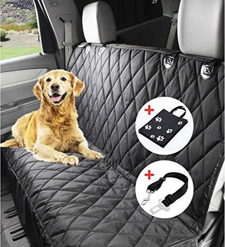 sserabweisend, DO01-FBA 150 x 144cm Hundedecke Rückbank, Anti-Rutsch Schondecke Hund Auto mit Einem Kostenlosen Sicherheitsgurt und Tragetasche für Autos Trucks Van SUV ()
