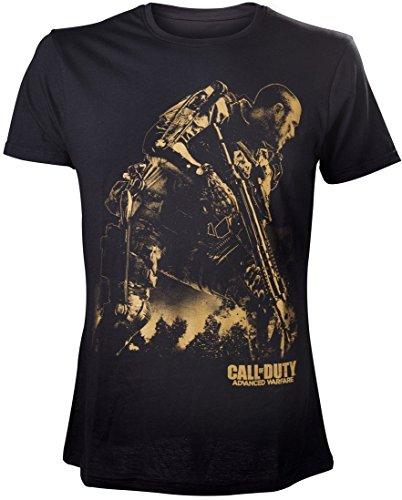 Call of Duty Duty Advanced Warfare T-Shirt Black Golden Soldier Size XL Bioworld