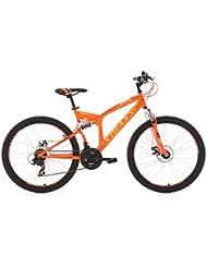 VTT tout suspendu 26'' Xtraxx jaune-orange TC 46 cm KS Cycling