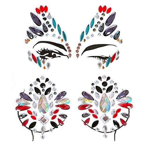GEMSeven Acryl Festival Sticker Stirn Gesicht Brust Juwel -
