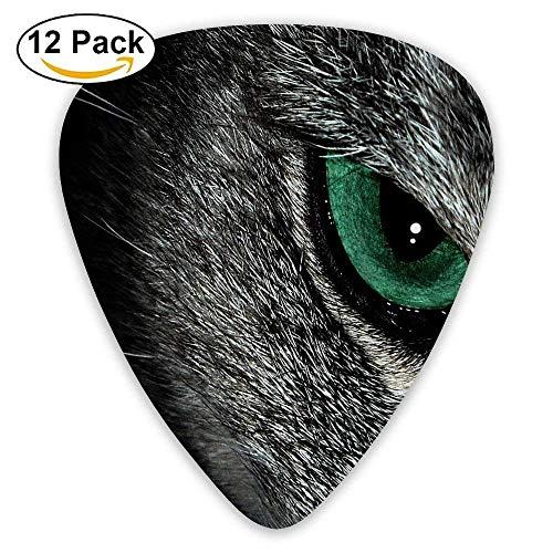 Die Katze Mit Grünen Augen Im Dunkeln Plektrum12 Stück Für E-Gitarre, Akustikgitarre, Mandoline und Bass