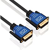 deleyCON Premium HQ DVI zu DVI Kabel - DVI-D Dual Link - [10m] - 3D Ready - DVI auf DVI Adapterkabel [10 meter]