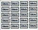 7 Oclock 100 bord à double bleu platine Gillette lames de rasoir de sécurité, 20 x 5