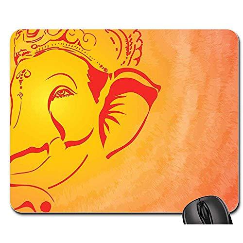 Vernähte Kanten Mouse Pad - Mauspads - Hinduismus Ganesh Anbetungs-Gottheits-Gott-Göttliche Religion