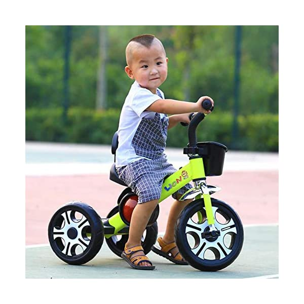 TX 3-6 Years Old Baby Tricycle Children Boys Girls 3 Increase Sized PU Wheel Toddler Musical Pedal Bicycle,Pink TX Widened to increase seat, the baby sitting more comfortable. Non-slip grip, making use of rubber, non-toxic, direct touch. Designed to increase pedal, increase the wheel design. 5