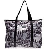 Becksöndergaard Nylon Tasche Shopper Relyea Koto Black - Damen Schulter-Tasche grauer Druck strapazierfähig auswaschbar Reißverschluss 1611450006-010