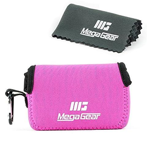 """MegaGear """"Matériau Léger"""" Neoprene Sac photo Housse Étui Sacoche pour Sony Cyber-shot DSC-RX100 V, DSC-RX100 IV, Olympus Tough TG-4, TG‑5 (Rose)"""