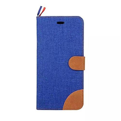 iPhone 6 Hülle, iPhone 6S Hülle, Lifeturt [ Schwarz ] Luxus PU Leder Brieftasche Flip Case Cover Schütz Hülle Abdeckung Ledertasche mit Standfunktion Karteneinschub und Magnetverschluß Etui Flip Case  E02-Blau