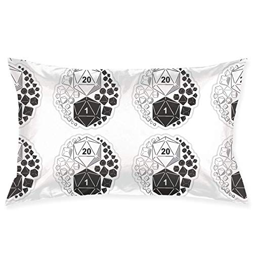 throw pillowcase Dungeons Dragons Yin Yang Pillow Case Cover 20X30 in Hidden Zipper Double-Sided Printing Modern Couch Sofa Waist Home Decor