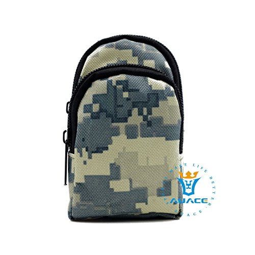 Multifunktions Survival Gear Tactical Beutel MOLLE Tasche-Epauletten Tasche, Outdoor Camping Tragbare Travel Bags Schlüssel mümzbörse ACU