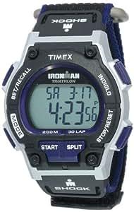 Timex - T5K198 -  IRONMAN Running  - Montre Sport Homme - Quartz - Digitale - Bracelet Nylon Multicolore