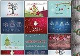 Weihnachtskarten-Set Grußkarten Weihnachten Weihnachtspostkartenset lustig rustkal (30 Stück) Weihnachts-Postkarten witzig Comic Collection DIN A-6 gemischt & günstig Rentier Weihnachtsmann Vintage Retro