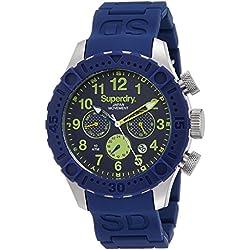 Superdry SYG142U Mens Scuba Deep Sea Blue Silicone Bracelet Watch