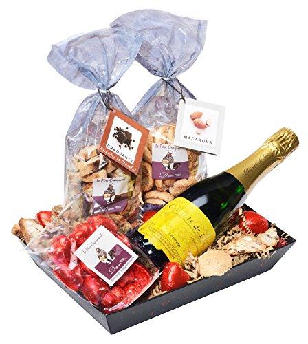 Panier Saint Valentin chocolat et clairette de Die
